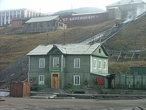 Svalbard - The dock house in Barentsburg