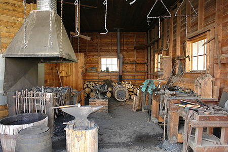 Barkerville BC Blacksmith Shop.JPG
