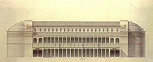 Disegno ricostruttivo della Basilica Ulpia di J. Guadet.