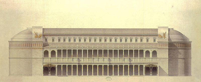 Reconstitution de la basilique Ulpia à Rome par Guadet.