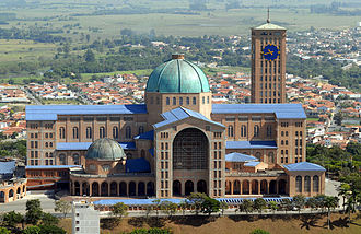 Culture of Brazil - The Basilica of the National Shrine of Our Lady of Aparecida is the second largest in the world, only after the Basilica of Saint Peter in Vatican City.