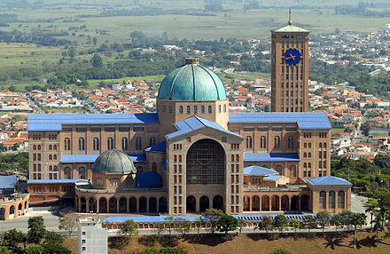 Basilica of Our Lady of Aparecida, Brazil, 1955 Basilica of the National Shrine of Our Lady of Aparecida, 2007.jpg