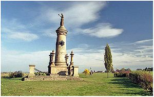 Austro-Prussian War - Memorial to Battery of the Dead at Chlum commemorates some of the heaviest fighting during Battle of Königgrätz (3 July 1866)