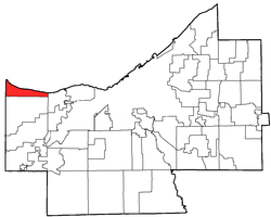 Location of Bay Village in Cuyahoga County
