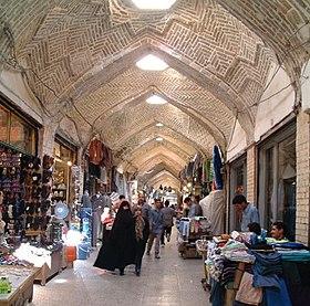 Le bazar de Zanjan.