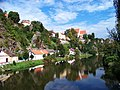 Bechyně, Pod Schody a klášter, ze zářečského mostu.jpg