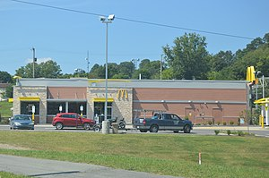 National Register of Historic Places listings in Raleigh County, West Virginia - Image: Beckley Mc Donald's on RCB Drive