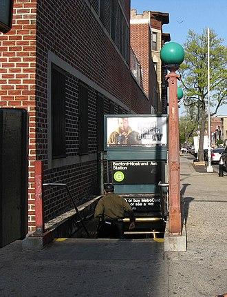 Bedford–Nostrand Avenues (IND Crosstown Line) - Street stair