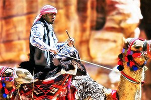 Disi Water Conveyance - A traditional Bedouin man in Southern Jordan