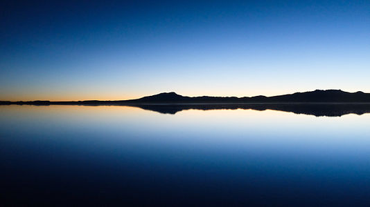 Moments before sunrise at the Salar of Uyuni, Bolivia