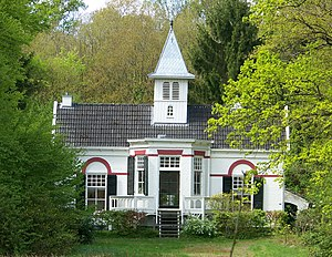 "Assen - Typical monumental building in Assen park ""De Eerste Steen"", a former estate."