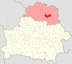 Location of Beshankovichy District