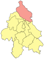 Location of Palilula within the city of Belgrade