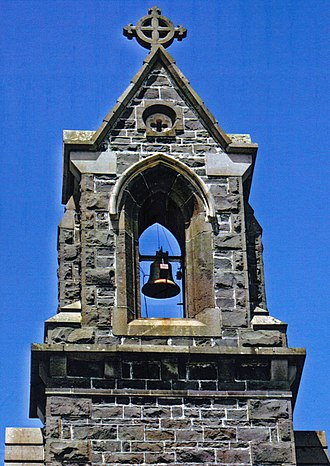 St Andrew's Church, Brighton - The bellcote on the gable of the Pioneer Chapel, built in 1857 to crown the western facade of the third St Andrew's Church building and the main entrance to St Andrew's Church for over a century.