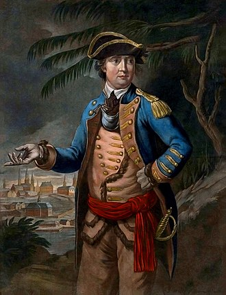 Benedict Arnold's expedition to Quebec - A 1776 mezzotint of Benedict Arnold by Thomas Hart