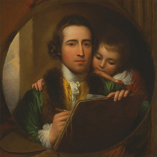 File:Benjamin West - The Artist and His Son Raphael - Google Art Project.jpg