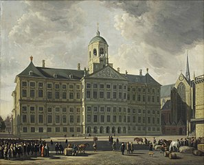 The City Hall on Dam Square,