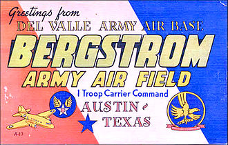 Bergstrom Air Force Base - World War II postcard