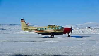 Bering Air - A Bering Air Cessna 208B Grand Caravan in Nome, Alaska.