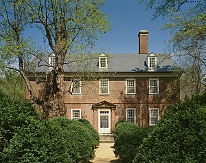 National Register of Historic Places listings in Charles City County, Virginia - Image: Berkeley plantation harrison home