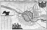 Plan Berlins von Abraham Guibert Dusableau (1737, nicht genordet)