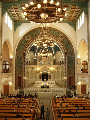 Rykestrasse Synagogue - The nave during a guided tour on the occasion of the European Heritage Days in 2007