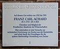Berliner Gedenktafel Dorfstr 1 (Kauld) Franz Carl Achard.jpg