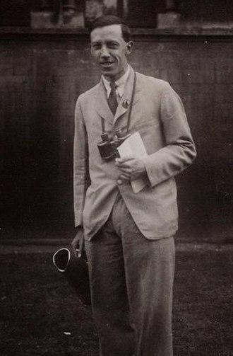 Bernard Tucker - Tucker in 1934, photographed by Alexander Wetmore