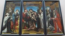 Bernardo Zenale: Circumcision with Fra Jacopo Lampugnani as a Donor