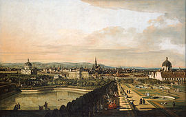 Bernardo Bellotto, called Canaletto - Vienna Viewed from the Belvedere Palace - Google Art Project.jpg