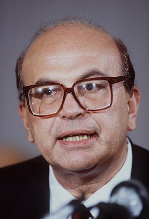 Italian Socialist Party - Bettino Craxi, party leader from 1976 to 1993 and the first Socialist Prime Minister from 1983 to 1987