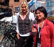 0a8c06415927 Hannah being interviewed by Link TV during the 2008 Democratic National  Convention in Denver