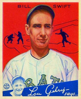 Bill Swift (1930s pitcher) - Image: Bill Swift Goudeycard
