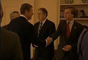 Bill Schuette - Schuette meeting with President Ronald Reagan in 1985