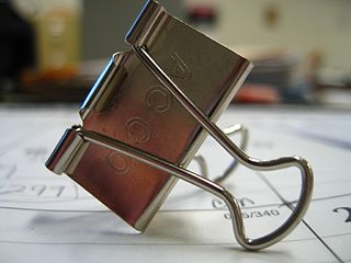 Binder clip a simple device for binding sheets of paper together