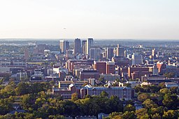Birmingham's skyline from it's highest point.jpg