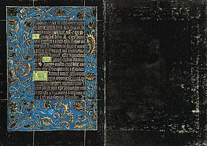 Black Hours, MS M.493 - Folios 121v–122r. Office of the Dead. The final leaves of the Morgan book