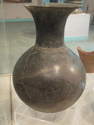 Burzahom archaeological site - A pot excavated from Burzahom