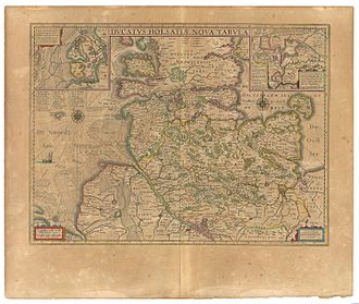"Brunsbüttel - ""Brunsbuttel"" 1645 im Atlas Maior von Blaeu"