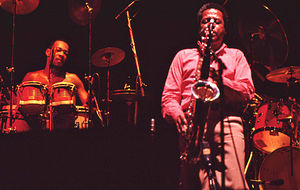 1980 in jazz - Bobby Thomas and Wayne Shorter with Weather Report, Amsterdam, 1980