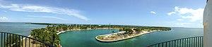 Boca Chita Key - Image: Boca Chita Light View From