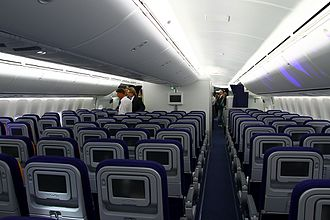 Economy Class on a 747-8I in a 3-4-3 layout. Boeing 747-830, Lufthansa AN2100134.jpg
