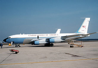 Military Airlift Command - VC-135B Stratolifter, AF Ser. No. 62-4126, used for VIP transport parked on the flight line at Andrews AFB, Maryland