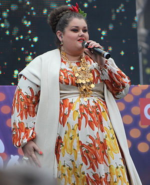 Serbia in the Eurovision Song Contest 2015 - Bojana Stamenov performing at the Eurovision Village in Vienna