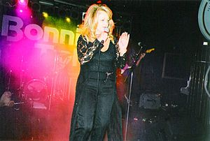 Bonnie Tyler - Tyler performing on stage in Moscow, Russia, 9 May 1999.