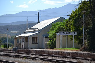 Bonnievale, Western Cape - Image: Bonnievale Station. Founded in 1922. Demolished c.2012. 07