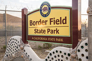 Border Field State Park - Border Field State Park sign