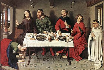 Christ in the House of Simon by Dieric Bouts, ...