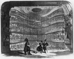 Bowery Theatre - Bowery Theatre of 1845, shown in 1856