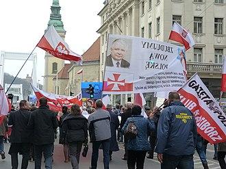 Gazeta Polska - Sympathy demonstration - Budapest, 15 March 2014
